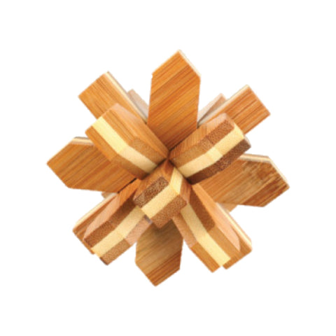 Bamboo Puzzles Medium - Snow Flake