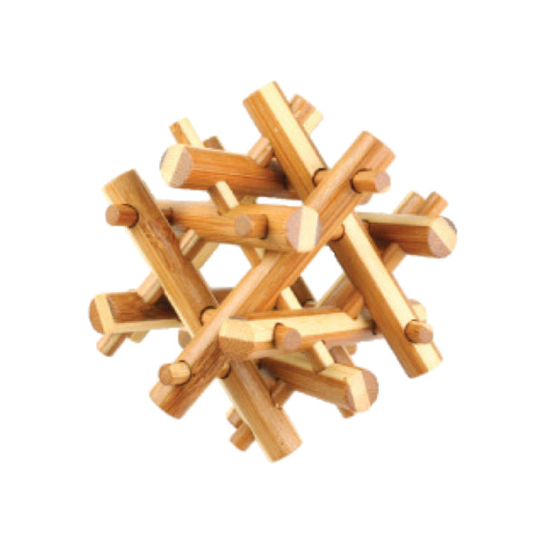 Bamboo Puzzles Medium - Tri Frame | Handcrafted Gift