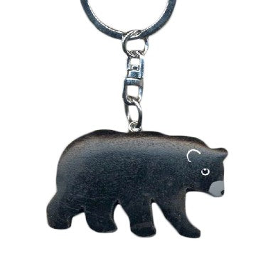 Bear Key Chain Handcrafted in Wood