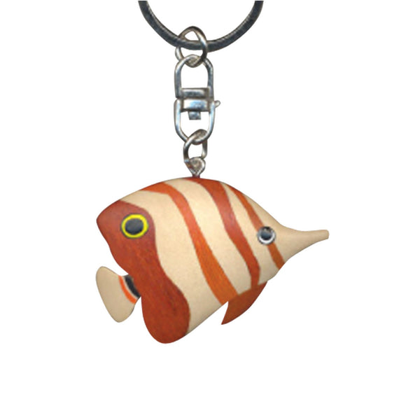 Butter Fish Key Chain Handcrafted in Wood