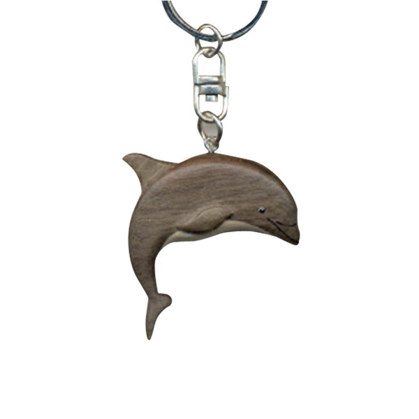 Dolphin Key Chain Handcrafted in Wood