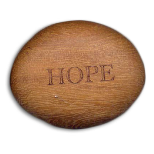 Hope - Inspirational Wood Stone