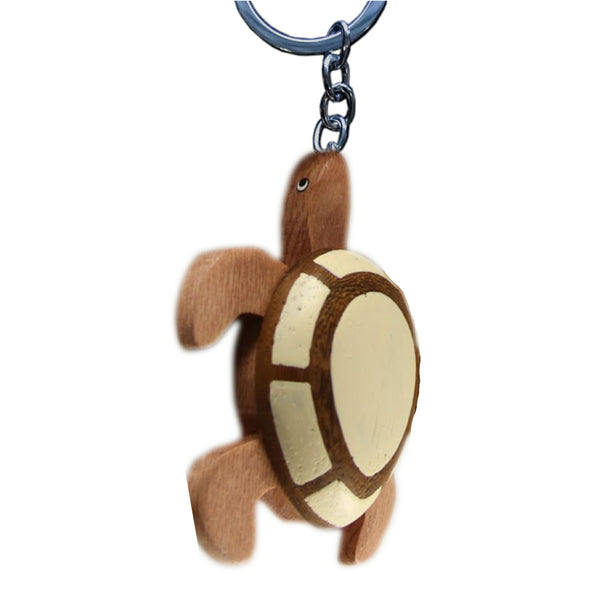 Sea Turtle Large Key Chain Handcrafted in Wood