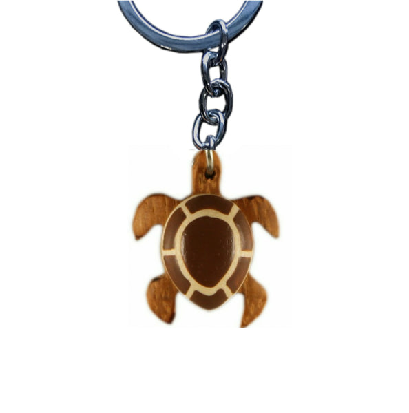 Sea Turtle Mini Key Chain Handcrafted in Wood