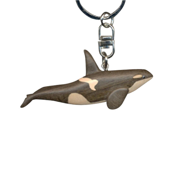 Killer Whale Key Chain Handcrafted in Wood