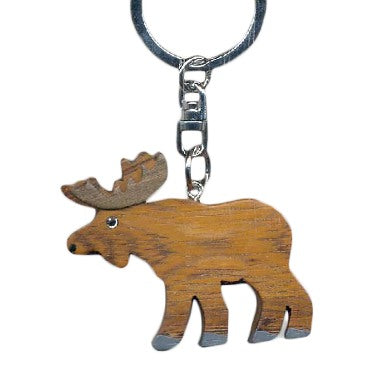 Moose Key Chain Handcrafted in Wood