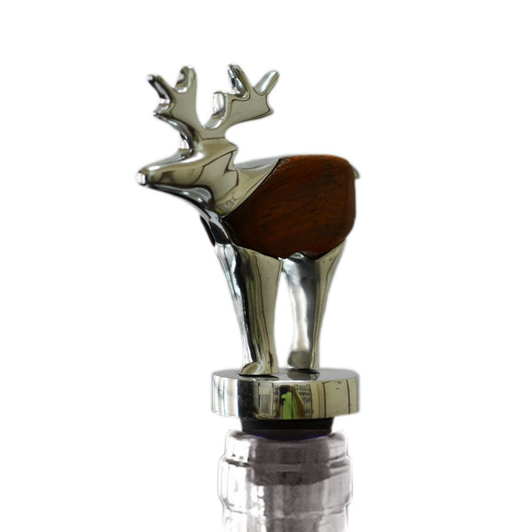 Moose Wine Stopper Handcrafted in Recycled Aluminum
