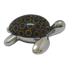 Sea Turtle Jewelry Box Handcrafted in Recycled Aluminum and Natural Inserts