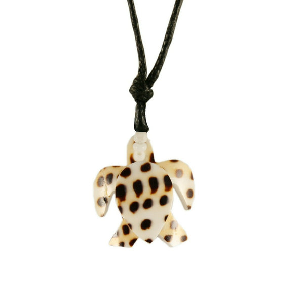 Sea Turtle Necklace Handcrafted in Cowry Shell