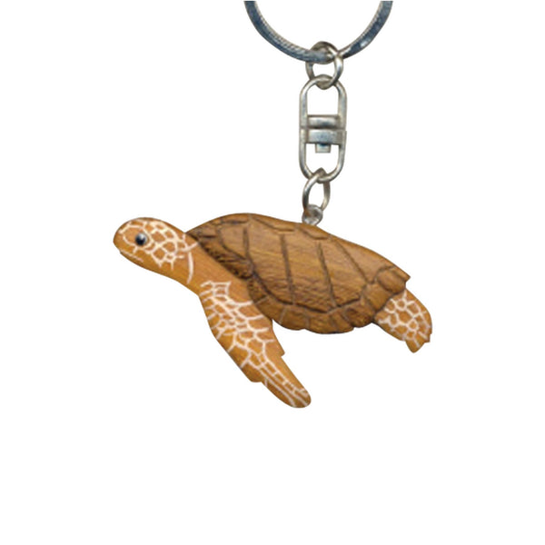 Sea Turtle Key Chain Handcrafted in Wood