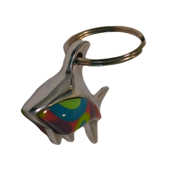 Shark Key Chain Handcrafted in Recycled Aluminum and Resine (Assorted)