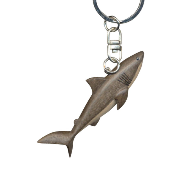 Shark Key Chain Handcrafted in Wood