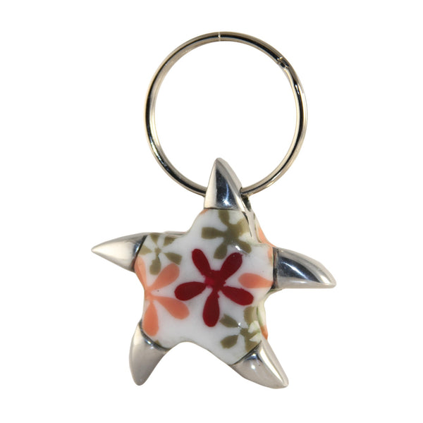 Star Fish Key Chain Handcrafted in Recycled Aluminum and Resine (Assorted)