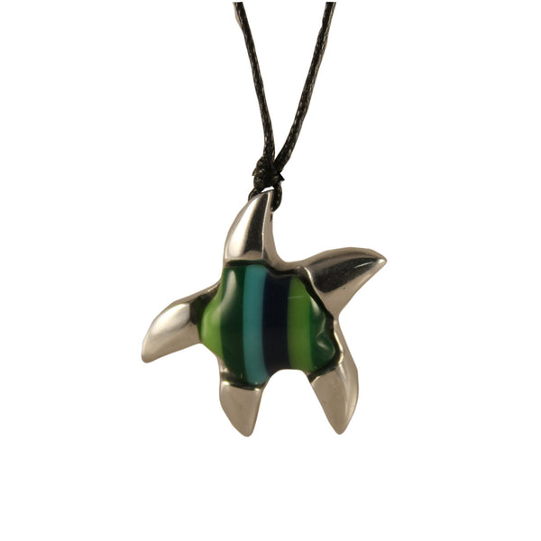 Start Fish Necklace Handcrafted in Recycled Aluminum and Inserts (Assorted)