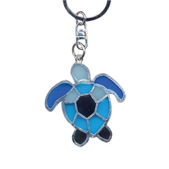 Sea Turtle Key Chain Handcrafted in Translucent Resin and Zinc Allow
