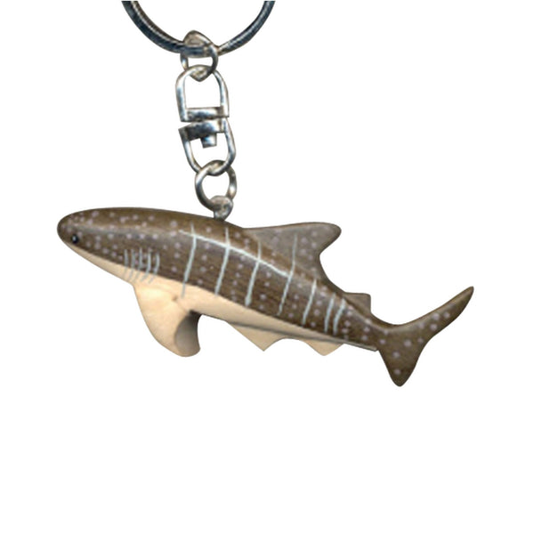 Whale Shark Key Chain Handcrafted in Wood