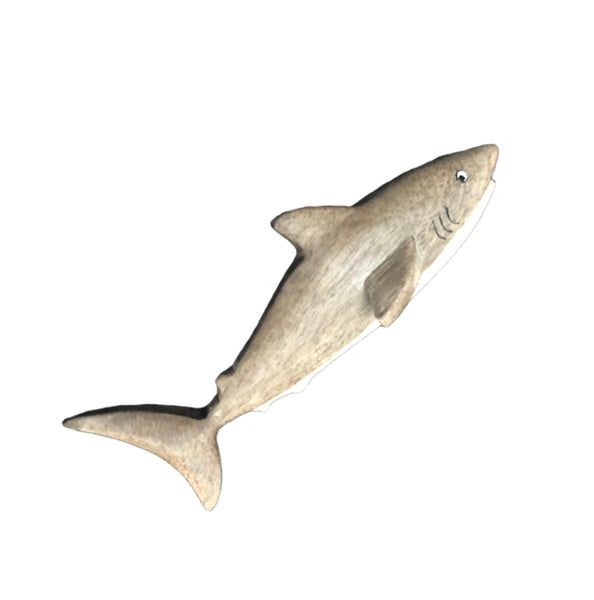 Shark Large Figurine Handcrafted in Wood