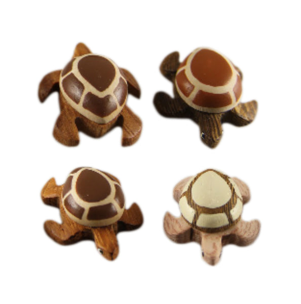 Sea Turtle Collection Mini Figurine Handcrafted in Wood