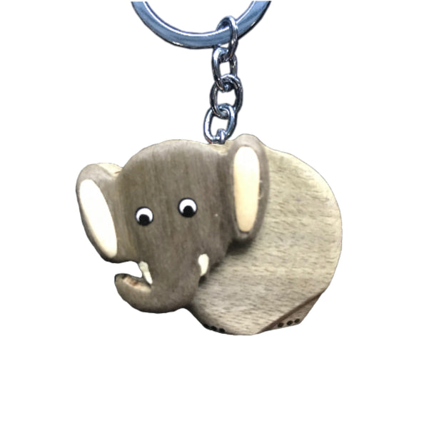 Elephant Key Chain Handcrafted in Wood