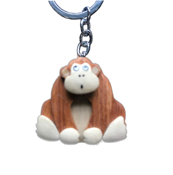 Orangutan Key Chain Handcrafted in Wood