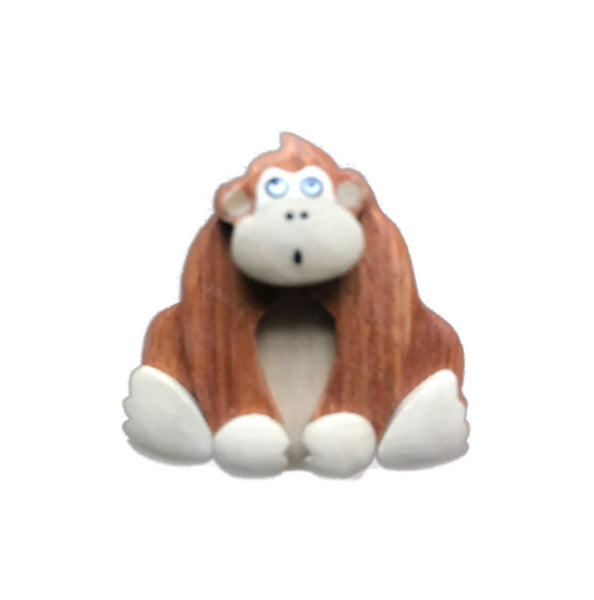 Orangutan Magnet Handcrafted in Wood