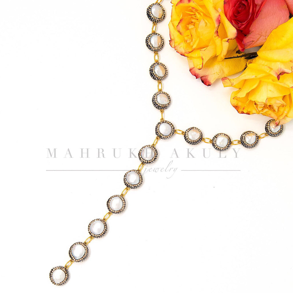 Baroque Pearl Gemstone Necklace