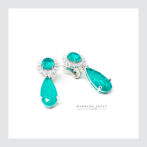 Paraiba drop earrings