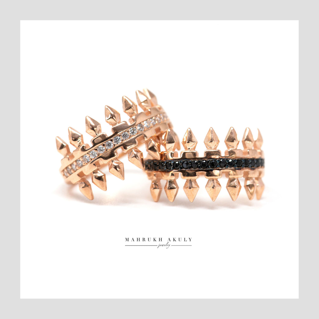 Spiked zirconia rings