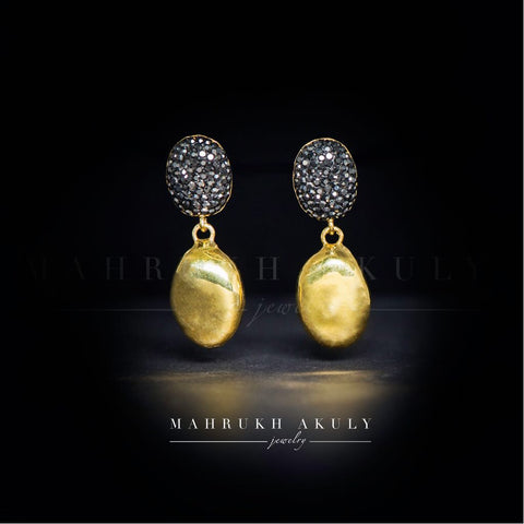 Swarovski antique gold drops