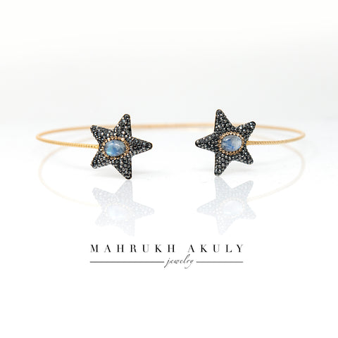 Moonshine and Swarovski star choker