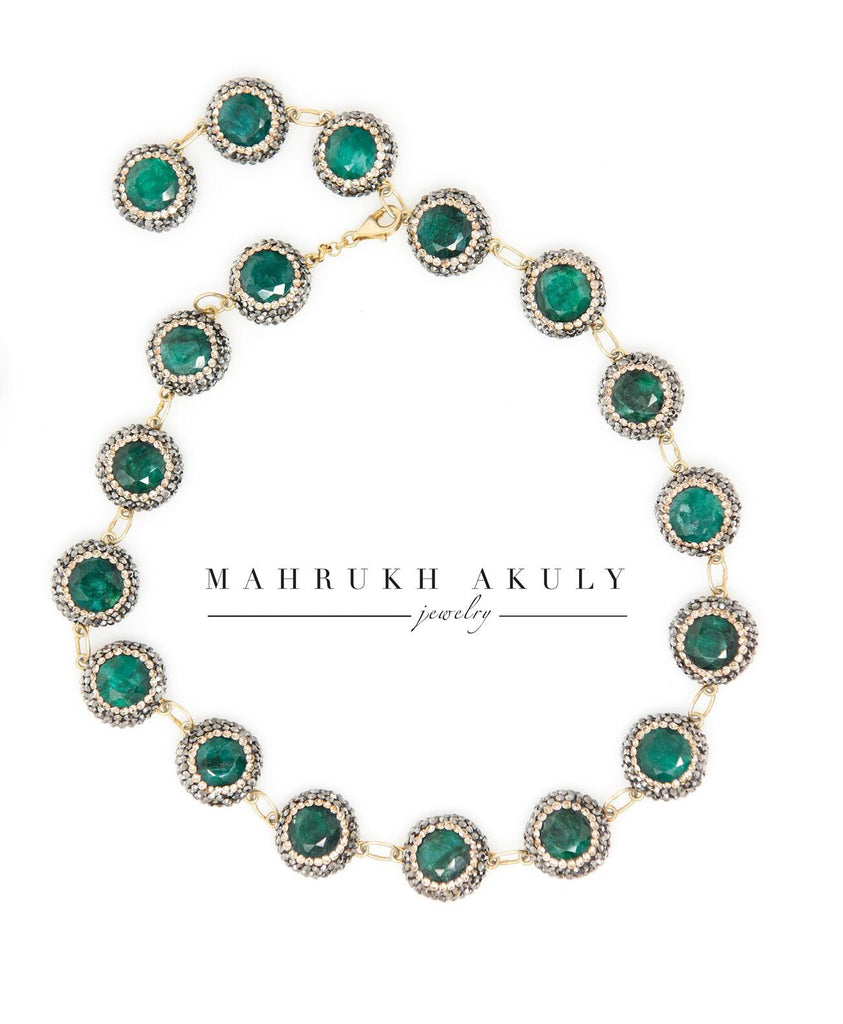 Emerald choker / collar necklace