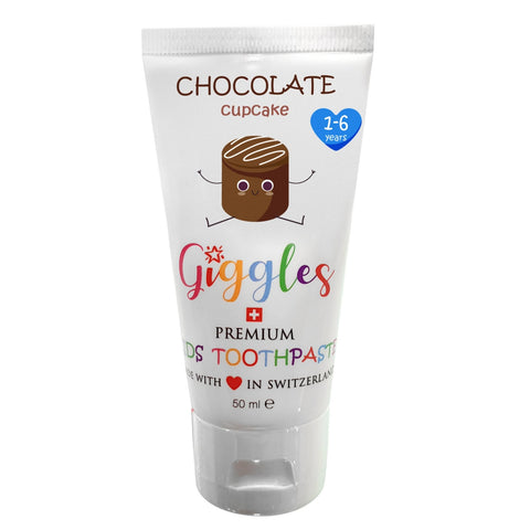 Giggles Chocolate Cupcake  -  Premium Kids Toothpaste 50ml
