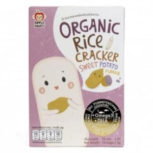 Apple Monkey Organic Rice Cracker - Sweet Potato 30g  (10x3g)