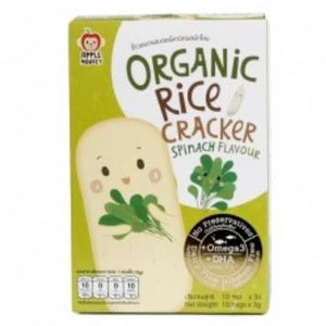 Apple Monkey Organic Rice Cracker - Spinach - 30g (10x3g)