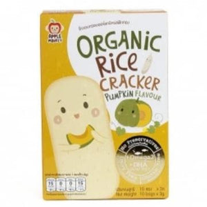 Apple Monkey Organic Rice Cracker - Pumpkin - 30g (10x3g)