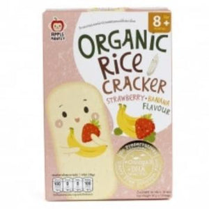 Apple Monkey Organic Rice Cracker  Strawberry & Banana 30g  (10X3g)