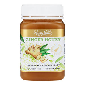 Happy Valley Premium New Zealand Manuka Ginger Honey (500g)