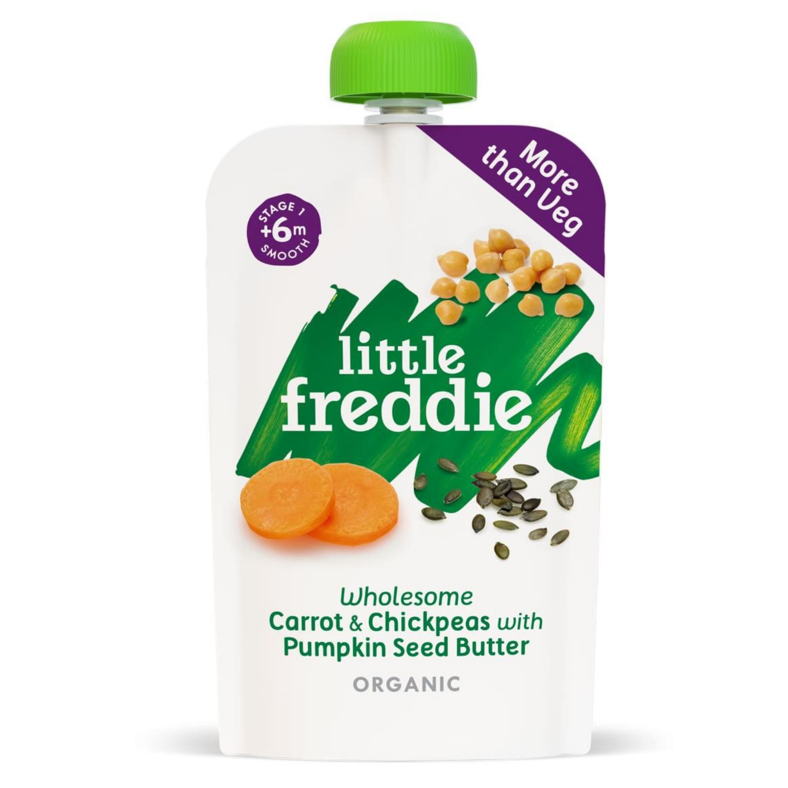 Little Freddie Wholesome Carrot & Chickpeas with Pumpkin Seed Butter 120g