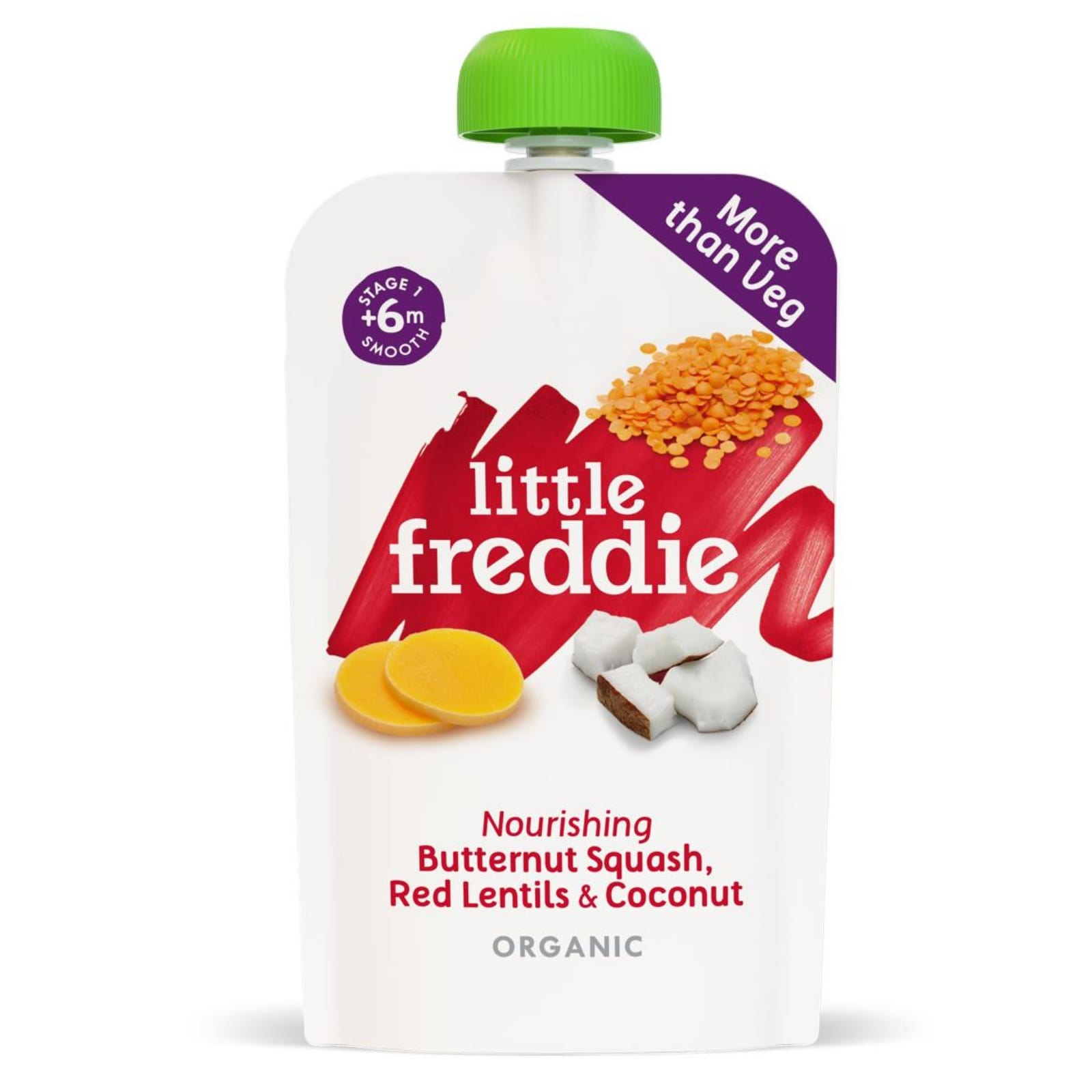 Little Freddie Nourishing Butternut Squash, Red Lentils & Coconut 120g