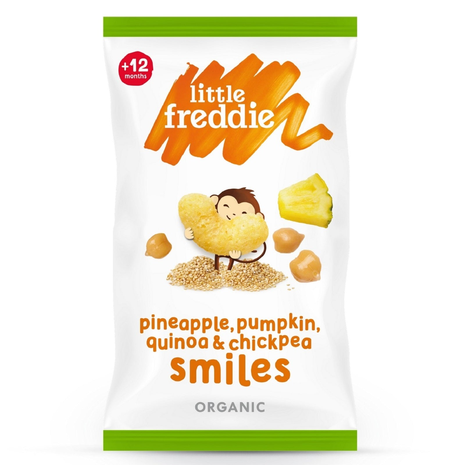 Little Freddie Pineapple, Pumpkin, Quinoa & Chickpea Smiles (4x11g)
