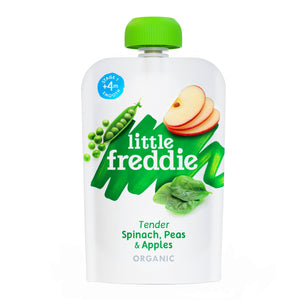 Little Freddie Fruit & Vegetable - Tender Spinach , Peas & Apples - 100g [BBF 22 Jan 2021]