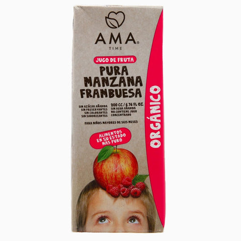 AMA Time Organic Raspberry and Apple Juice