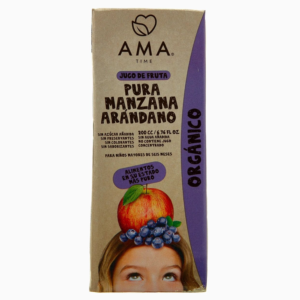 AMA Time Organic Blueberry and Apple Juice 200ml