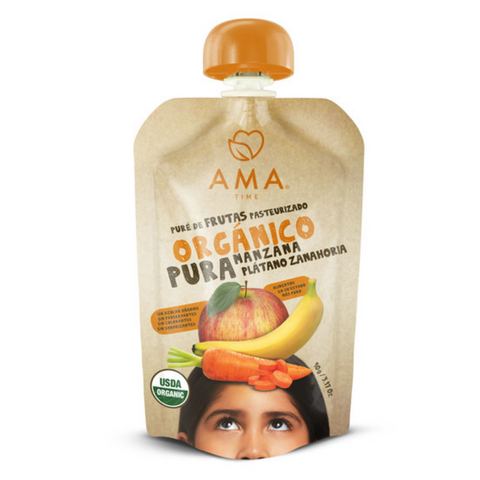 AMA Time Organic Apple Banana Carrot Puree - 90g
