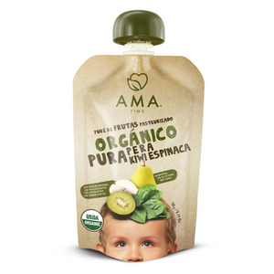 AMA Time Organic Pear Kiwi Spinach Puree - 90g