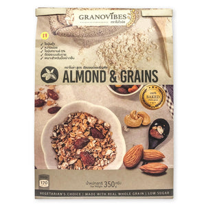 Granovibes Almonds & Grains - Granola 350g (EXP 1 AUG 2020)