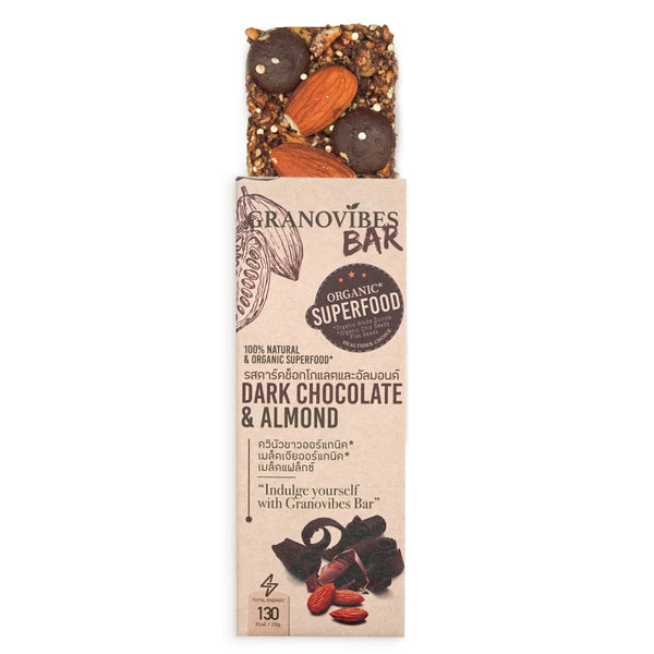 Granovibes Dark Chocolate & Almond Granola Bar 28g
