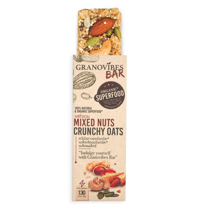 Granovibes Mixed Nuts Crunchy Oats Granola Bar 28g