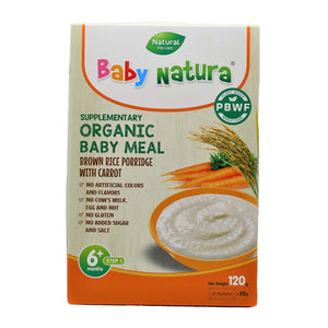 Baby Natura Brown Rice Porridge with Carrot - 120g  (20gx6)