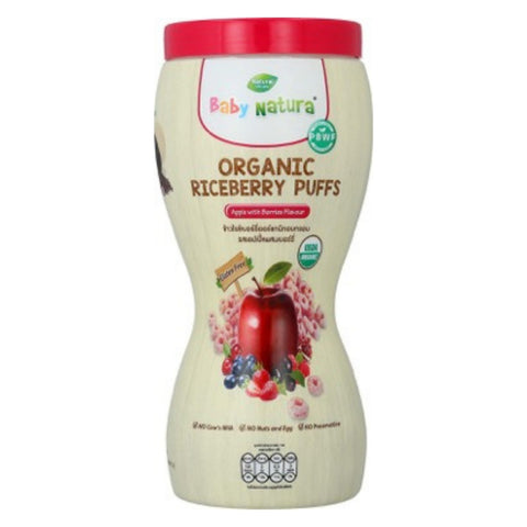 Baby Natura Organic Riceberry Puff - Apple with Berries Flavour 40g